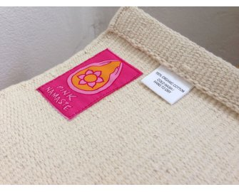 Organic Yoga Rug Cream/Natural