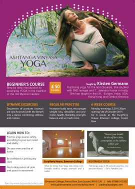 ASHTANGA YOGA BEGINNER'S COURSE
