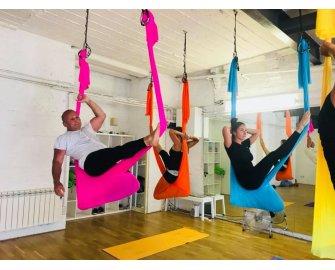 Flying Yoga Class - Aerial Yoga Oct 2018