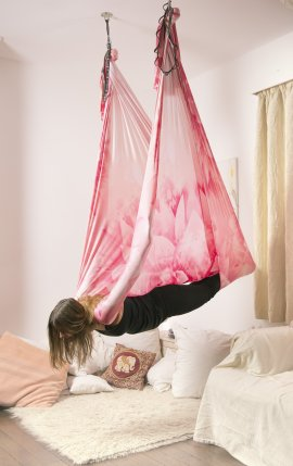 Pink Lotus Yoga Hammock Kit
