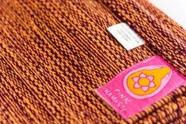 Organic Yoga Rug Aubergine/Saffron