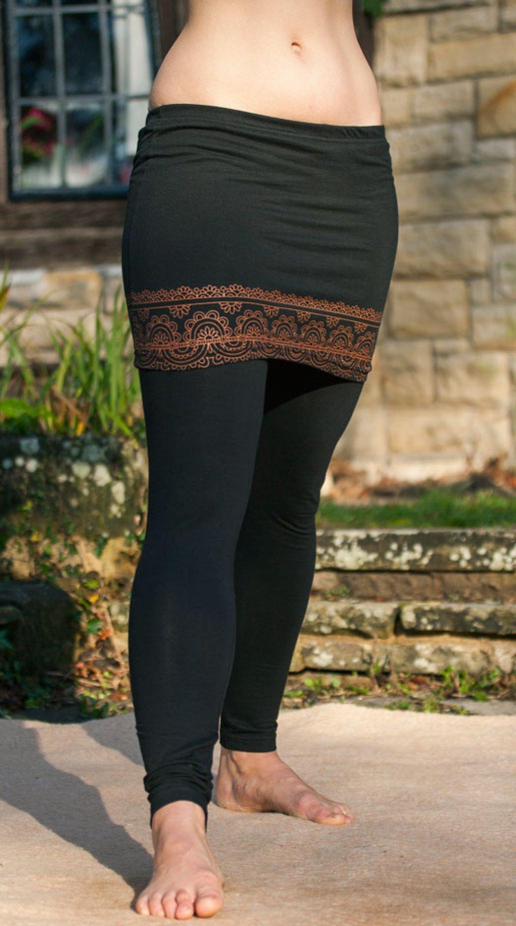 Pushpa Black Leggings with Skirt