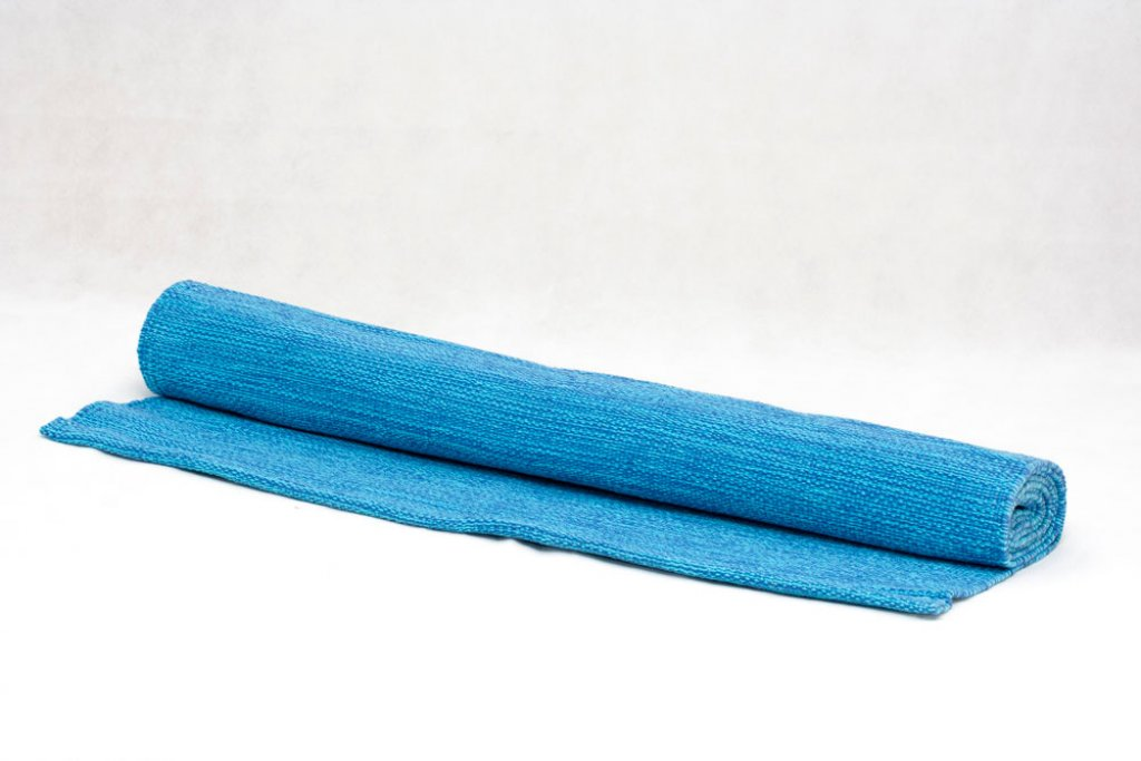 Organic Yoga Rug Blue/Turquoise